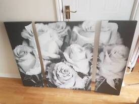Black and white large wall canvas