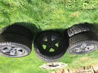 4 winter tires and rims from a 07 jeep rubicon