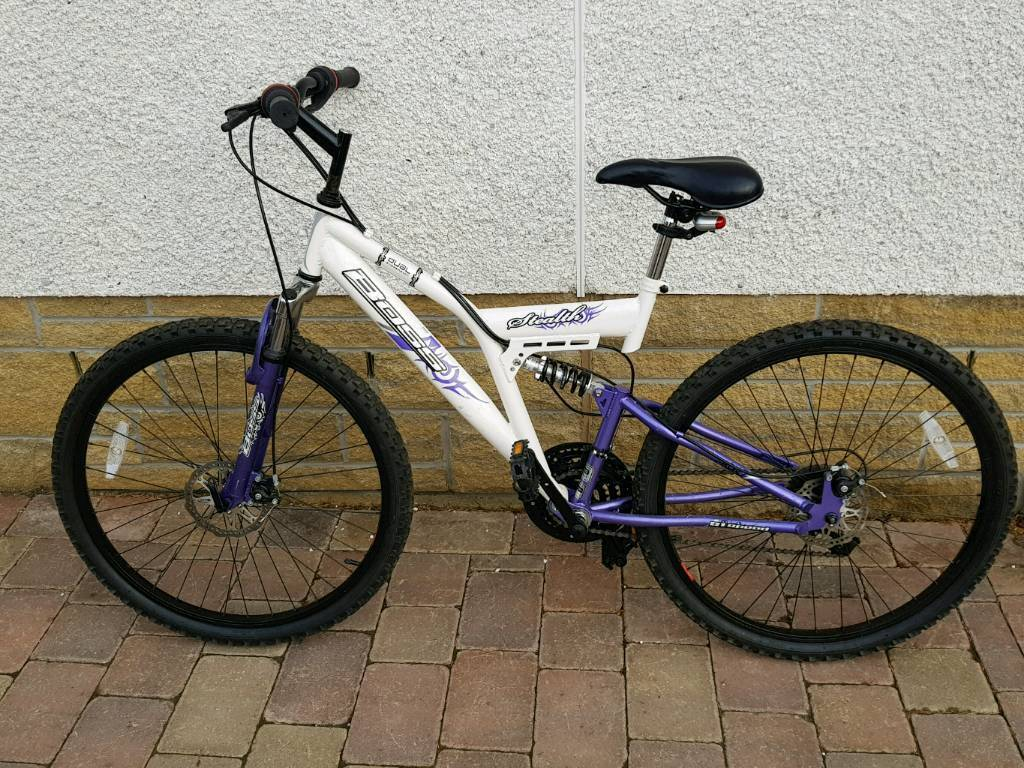 Ladies dual suspension bike