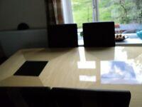 Italian high glass furniture set