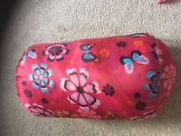Girls sleeping bag - suitable for 6 to 8 year olds.
