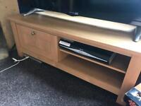 Next TV stand oak effect