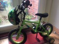 Bike for 2/3 yr old child inc matching helmet and bell