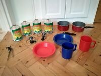 Camping gas and various cooking bits (Highgate)