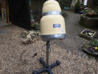 1960's Comete GB PARIS Hooded Hairdryer Made into Working Lamp