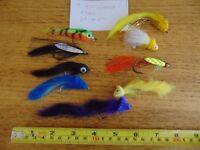 Predator Fishing Flies 9 x Anti Weed Flies