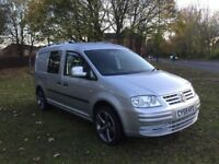 2010 VW CADDY 1.9 TDI MAXI KOMBI TAILGATE GOLF R LEATHER INTERIOR ROTOR ALLOYS ELEC PACK MUST SEE