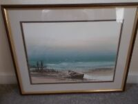 Vintage orginal watercolour painting signed