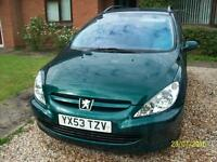 PEUGEOT DIESEL ESTATE 307 S HDI 90 - 1997 CC - 1 MONTHS MOT - being sold due to buying new car