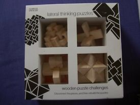 Four Wooden Lateral Thinking Puzzles - Marks & Spencer