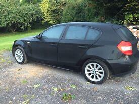 BMW 1 SERIES, BLACK, PARROT HANDSFREE, SAT NAV