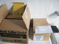 1 box White Envelopes and 1 box Mail lite Jiffy envelopes