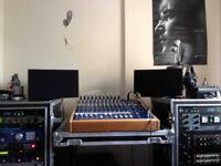 YAMAHA NS10M clone studiospares + Soundcraft spirit console