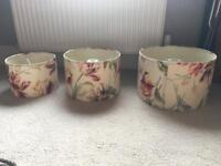 3 floral Laura Ashley lamp shades (red,blue,cream,purple,green,yellow)