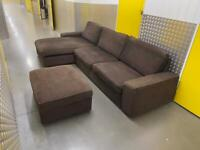 Ikea L shape sofa with storage stool, Free delivery