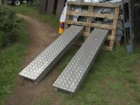 PAIR OF 6FT ALLOY H/D RAMPS IDEAL TRAILER ETC...