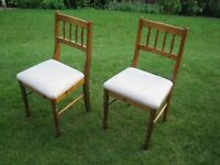 Ducal dining chairs x2.