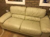 2 seater cream sofa needs a clean