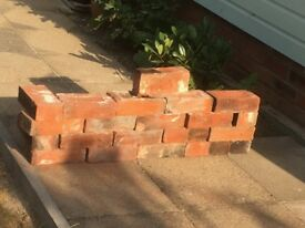Reclaimed old soft red bricks