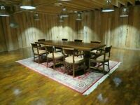 Large Cherrywood Banquet Table & 8 Chairs