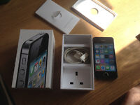 Apple iPhone 4s 16GB boxed. Excellent Condition No iCloud, Long Battery Life, Network locked to EE