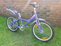 Like new girls giant taffy mountain bike 20inch wheels