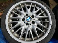 BMW 3 series E46 wheels and tyres