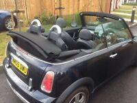 2005 mini convertible 1.6cc met black 1 owner top spec leathers fsh ful mot mint cond £2595
