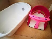 Baby bath and baby bath chair