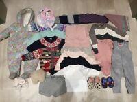 Baby Girl Winter clothes Bundle 6-12months including Petit Bateau (25 Items)