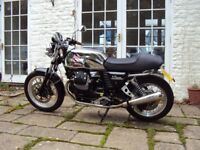 Moto Guzzi V7 Cafe Racer 2013 6800 miles. Arrows. Stunning Condition