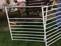 2X BABY GATES COIMPLETE WITH FIXTURES AND FITTINGS