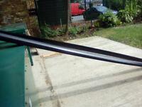 black 5 inch round guttering unused