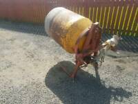 Tractor three point linkage pto driven spiromix cement mixer