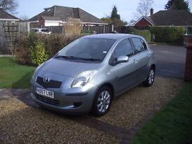 Exceptional 2007 Yaris, only 12,272 miles, alloys, parking sensors, fabulous condition, economic.