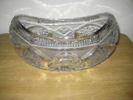 Quality Heavy Lead Crystal Oval Fruit Bowl.