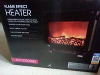 Flame effect stand alone electric heater