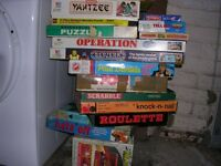 Various children's games from the past