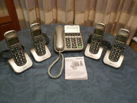 BIG BUTTON TELEPHONE 5 PIECE SET
