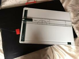 Drawing Board with Sliding / Fixable Rule