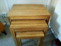 Oak nested tables