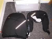 Silver cross wayfarer or pioneer apron and hood pack black / chrome new