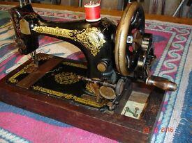 Singer Sewing Machine. Very old manual machine. Serial number F1377222