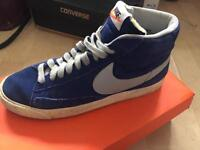 Size 8 Blue Nike Blazers (trainers)