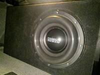 Sundown X10 V2 Dual 2 Ohm Subwoofer With Box Tuned 32hz