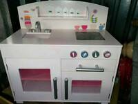 Girls play kitchen