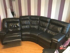 3 Seater sofa, chair & storage foot stool.