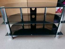 Black Glass Tv Unit Stand