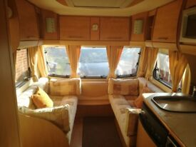 Bailey Pageant 2008. 4 berth with fixed double bed in good condition throughout.