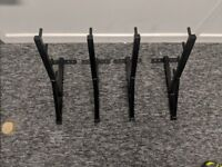 Window cleaning pole racks.